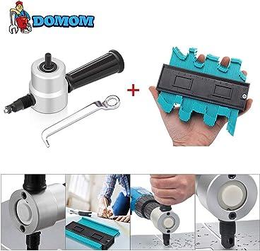 DOMOM Zipbite Nibbler Cutter Drill Attachment Double Head Metal Sheet