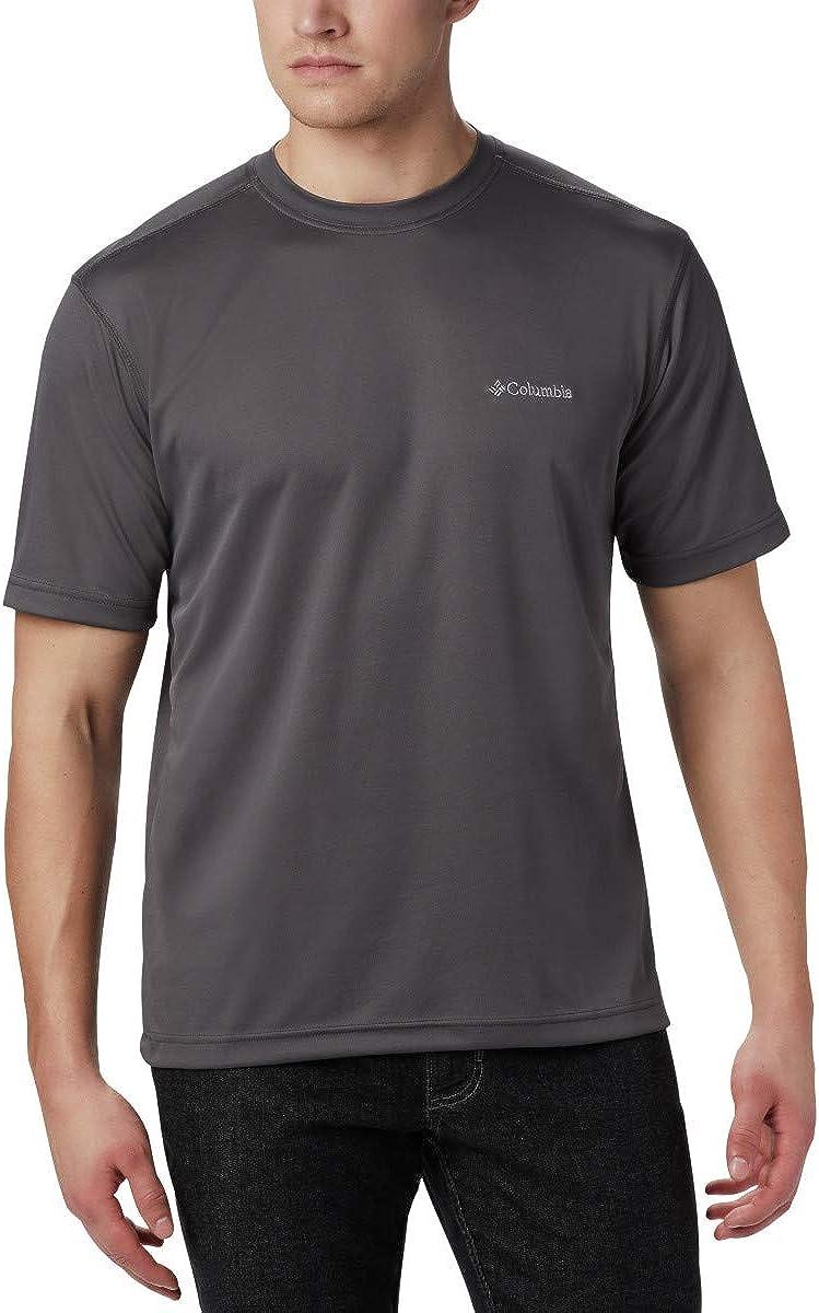 Columbia Men's Meeker Peak Short Sleeve Wicking UPF 15 Crew Shirt