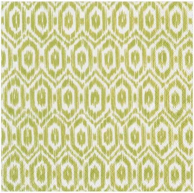 Caspari Paper Moire Cocktail Napkins Pack of 20 Lime Green