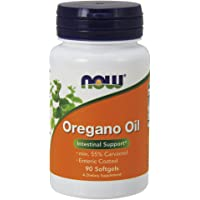"""""""Now Foods Oregano Oil Enteric Coated Softgels 90 Capsules (Pack of 2)"""""""