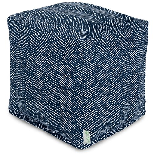 Majestic Home Goods Navajo Cube, Small, Navy by Majestic Home Goods