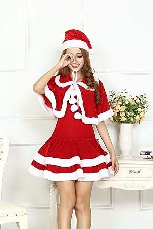 SDLRYF Disfraz De Papá Noel Traje De Navidad Hembra Adulta ...