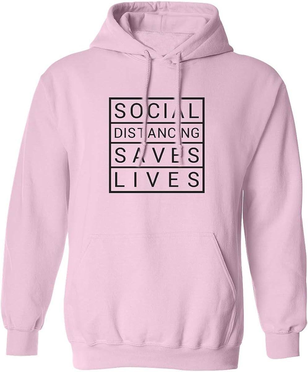 zerogravitee Social Distancing Saves Lives Adult Hooded Sweatshirt