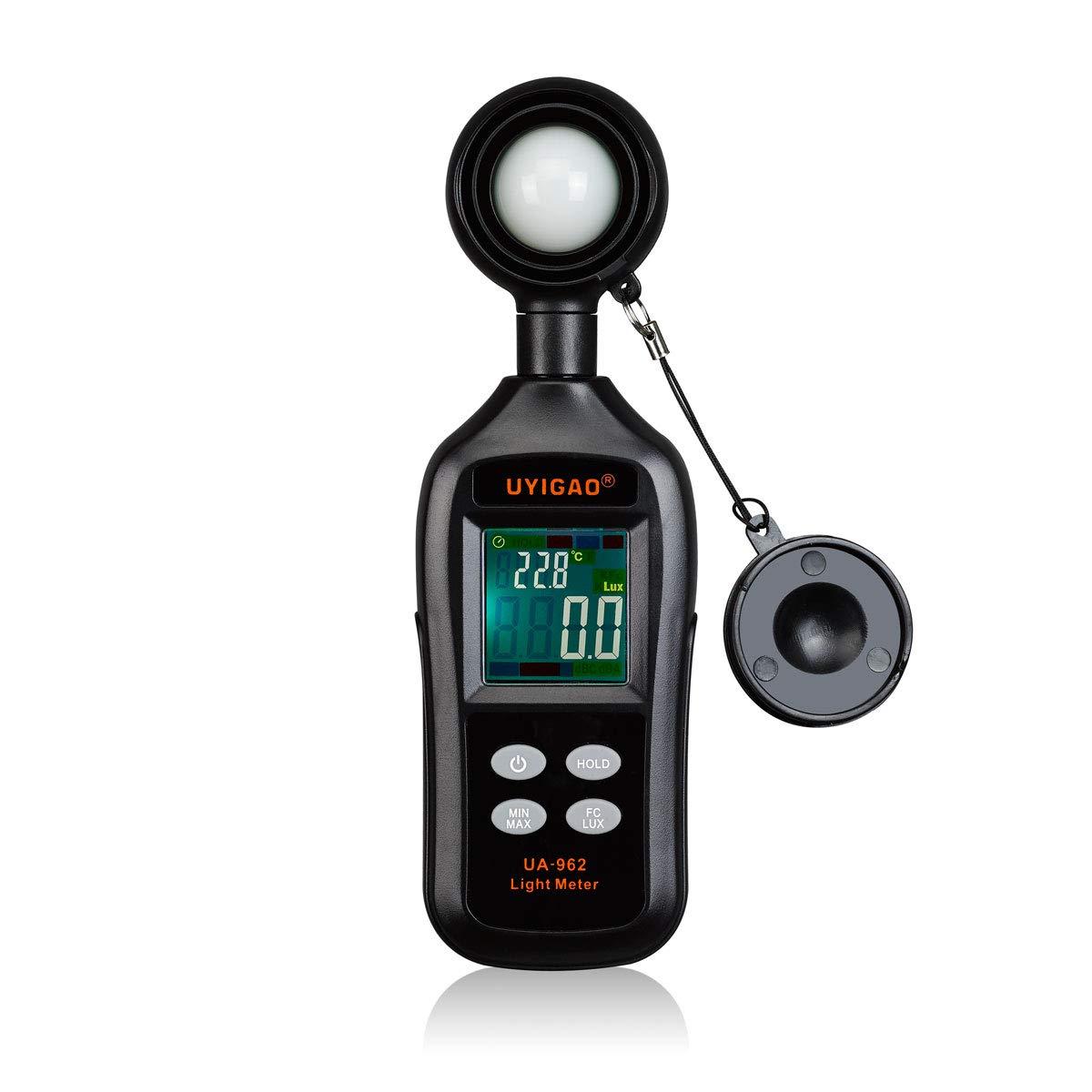 CocinaCo Light Meter Photo Meter Illuminometer Brightness Lux Meter Temperature Tester Handheld