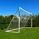 FORZA Soccer Goal 12x6 - The ultimate home soccer goal! Leave up in all weathers & takes 1000s of shots!