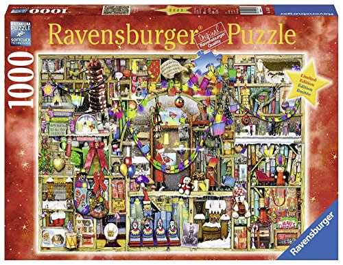 Ravensburger Christmas Cupboard 1000 Piece Jigsaw Puzzle for Adults - Every piece is unique, Softclick technology Means Pieces Fit Together Perfectly ()