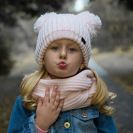 6587705daef Amazon.com  FURTALK Kids Winter Hat Pom Beanie Knit Skull Cap Hats for Children  Baby Boys Girls Toddler 1-5 Years  Clothing