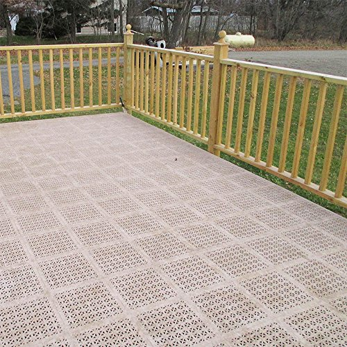 Greatmats Staylock Perforated Floor Tile 26 Pack Black
