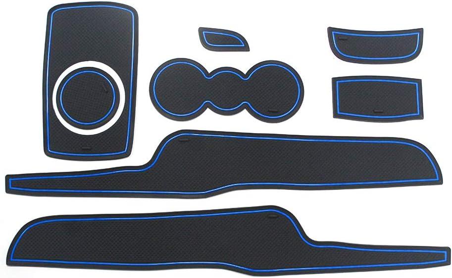 8X-SPEED For Fiesta 2008-2016 Car Door Groove Mat Non-slip Door Slot Pad Cup Mat Custom Car Gate Slot Rubber Mats Car Interior Decoration Mat Black 8pcs