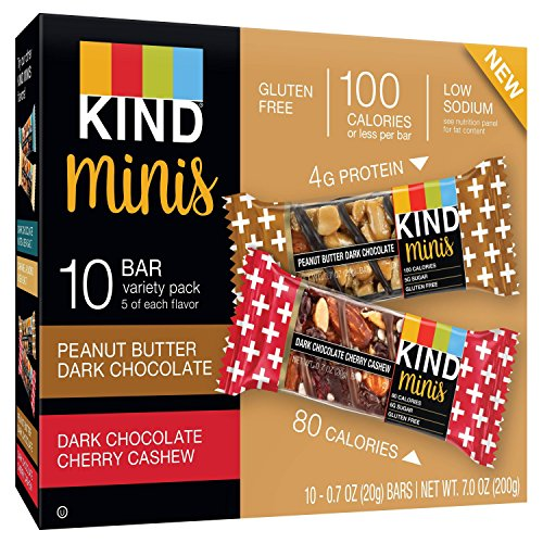 Kind Minis Gluten Free Variety Pack 0.7ozx10 bars, total 7oz, Pack of 1