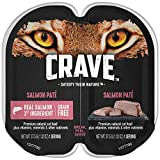 Crave Grain Free High Protein Salmon Paté Wet Cat Food Trays Give Your Feline The Power of Protein with Cat Food