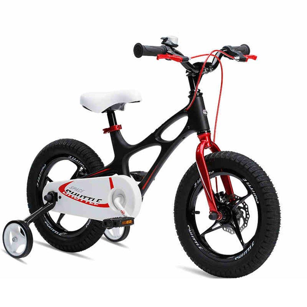 XQ 子供用自転車14/16/18インチ男性と女性の宝の赤ちゃんキャリッジ自転車3-6歳のマグネシウム合金の星座 子ども用自転車 ( サイズ さいず : Black-16inch ) B07C5SVDL5Black-16inch