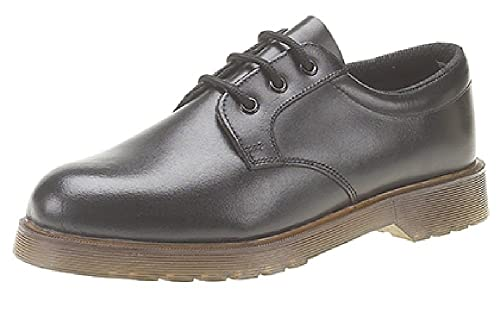 Grafters Uniform Smart Work Shoes 3 Eyelet Lace Up With Air Cushion Pvc Sole