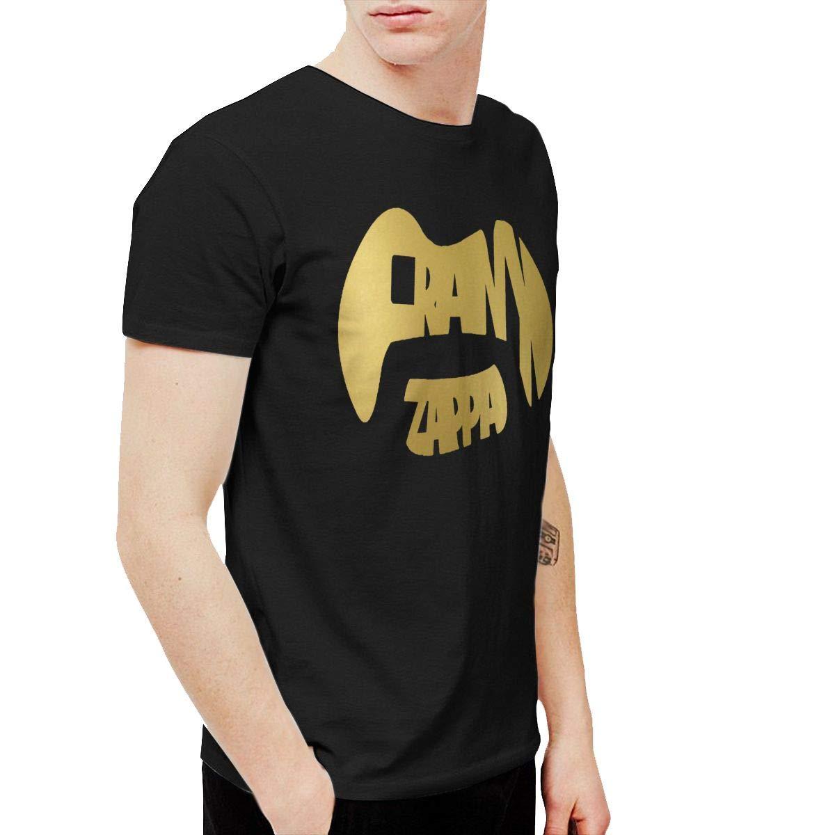 KaceO Mens Frank Zappa Logo T-Shirts Black