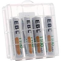 EBL 4 Piezas 1100mAh AAA Pilas Recargables Ni-MH 1200 Ciclo Alta Capacidad para Juguete Flash Mando Teléfono Fijo GPS…