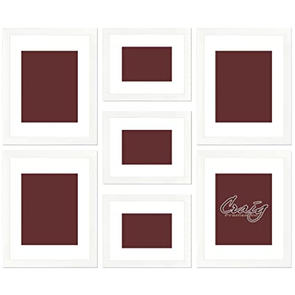 Amazon.com - Craig Frames 23247812 Picture Frame 7-Piece Wall Set ...