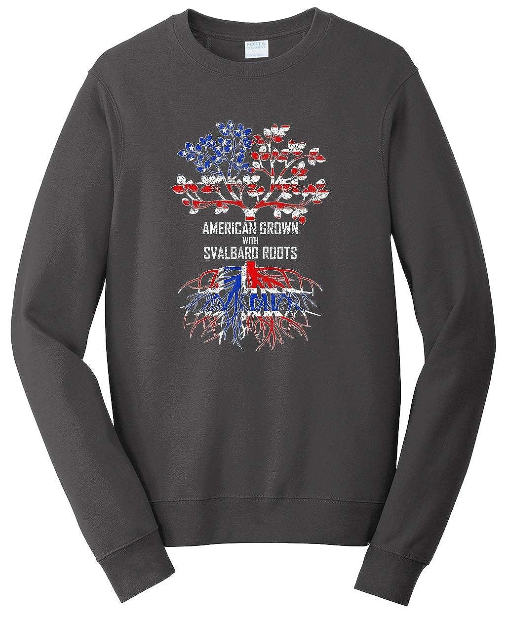 Tenacitee Unisex American Grown with Svalbard Roots Sweatshirt