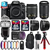 Holiday Saving Bundle for D7500 DSLR Camera + AF-P 70-300mm VR Lens + AF-P 18-55mm + Flash with LCD Display + 6PC Graduated Color Filter + 2yr Extended Warranty + 32GB Class - International Version