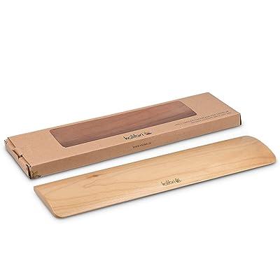 kalibri Repose-poignets pour clavier - Appui poignets pour travail écriture jeu ordinateur PC - Support ergonomique bois d'érable - 30 x 7,6 x 1 cm