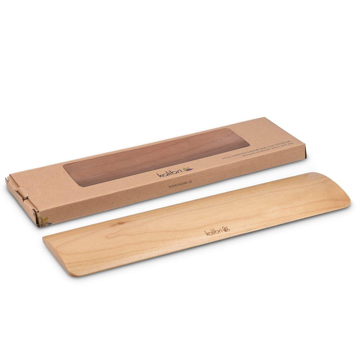 kalibri poggiapolsi ergonomico per tastiera pc - poggiapolso in legno supporto poggia polso keyboard base sostegno polsi - comfort pad - acero KW-Commerce 40179.24.2_m000442