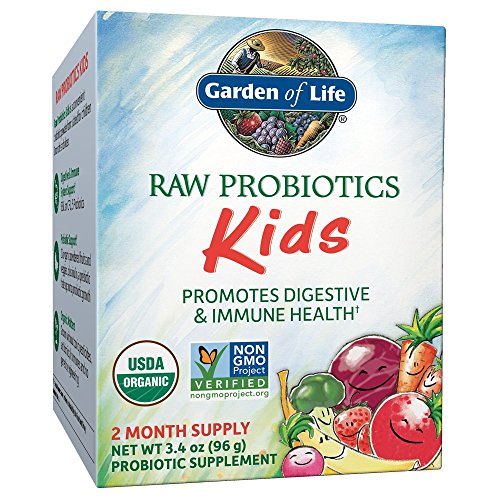 Yogurt Soy Probiotic - Garden of Life - RAW Probiotics Kids - Acidophilus and Bifidobacteria Organic Probiotic Supports Digestive Health and Immune System - Gluten and Soy-Free, Certified Organic - 3.4 oz (Shipped Cold)