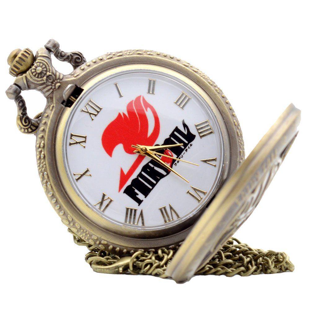 cdfcbee21 Amazon.com: KDJ STORE Cosplay Fairy Tail Natsu Dragneel Design Quartz Pocket  Watch Mens Boys: Health & Personal Care