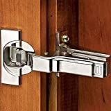 Blum CLIP top BLUMOTION Soft-Close Hinges, 110 degree, Self closing, Face Frame, with Mounting Plates (Inset - 8 pack) by Blum