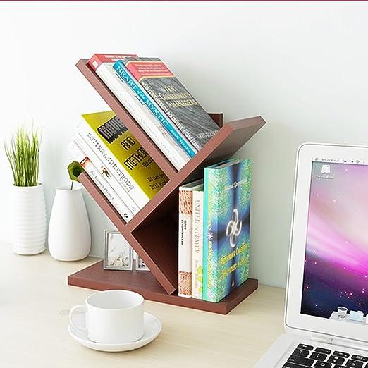 Moda Fácil Estantería Pequeña Mesa de escritorio Estantería ...