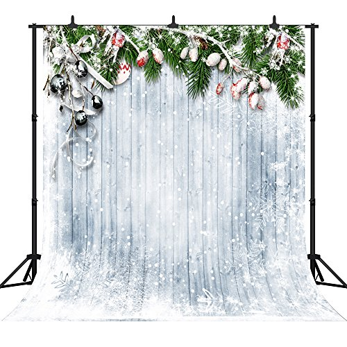 DePhoto 10X10FT(300X300CM) Merry Christmas Party Theme Customized Seamless