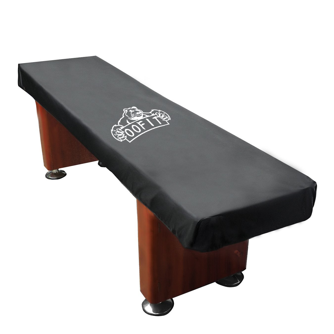 OOFIT 12' Shuffleboard Table Cover with Storage Bag Black by OOFIT