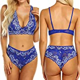 Malbaba Lace Floral Lingerie,Womens Sexy Bra and