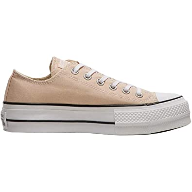 019cdaa71ccc Converse Women s Chuck Taylor¿ All Star¿ Seasonal Color Lift Ox Particle  Beige White