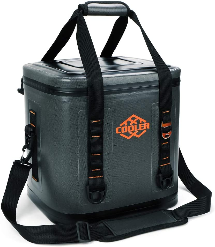 yodo CA288035-04 Square Leak Proof Bag 30 Cans-Soft Sided Insulated Coolers with, Grey