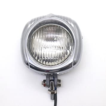 Electroline Style Headlight Retro Old School Head Lamp For Harley Bobber Chopper