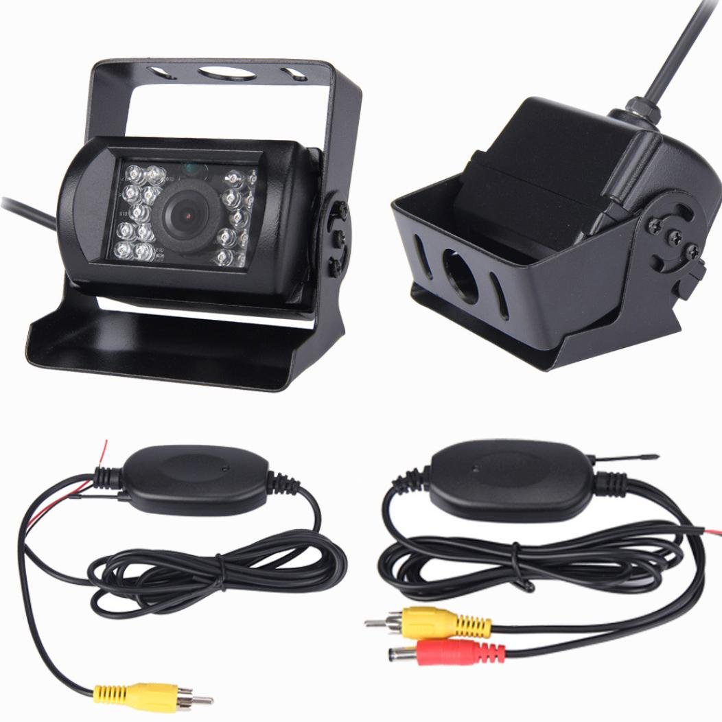 Dacawin Wireless Universal IR Night vision Waterproof Car Rear View Camera For Bus (Black)
