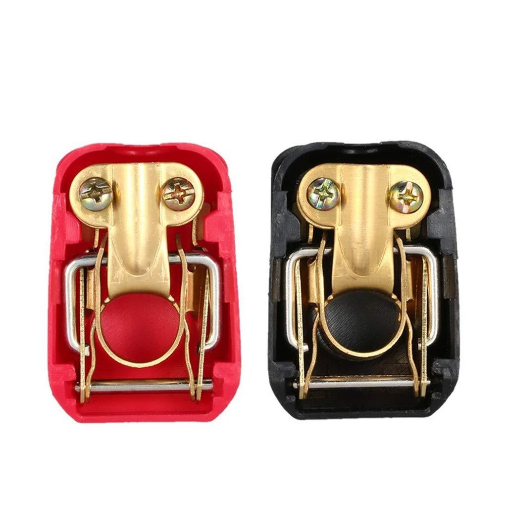 Royalr Terminales de la bater/ía del veh/ículo del Coche 12V Positivo Negativo Clip Conector Pinza roja Azul Accesorios para el Coche
