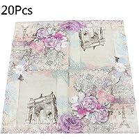 Shaoyanger 20 servilletas de papel desechables con diseño