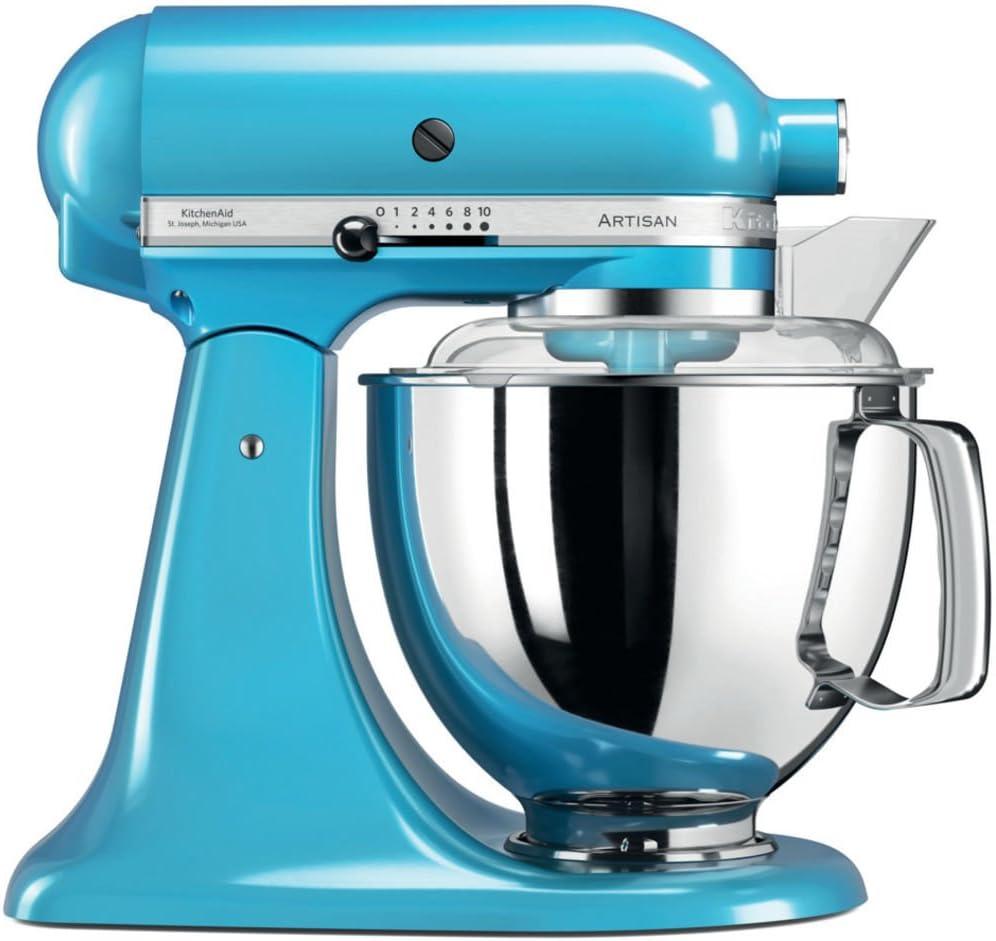 KitchenAid Artisan - Robot de cocina (4,8 L, Azul, palanca, 220 ...