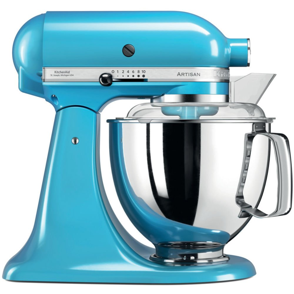 KitchenAid Artisan 5KSM175PSECL 5 Qt.Stand Mixer Crystal Blue with TWO Bowls & Flex Edge Beater 220 VOLTS NOT FOR USA