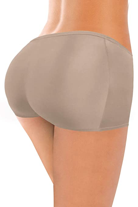 ae6cbda86 Amazon.com  ShapEager Women Butt Booster Padded Underwear Boxer Removable  Padding Derriere  Sports   Outdoors