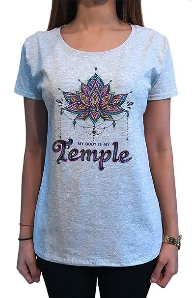 Camiseta para Mujer Yoga Meditación Símbolos de Chakra ...