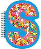 "iscream Letter S Shaped Spiral-Bound Lined-Page 6.5"" Initial Notebook"