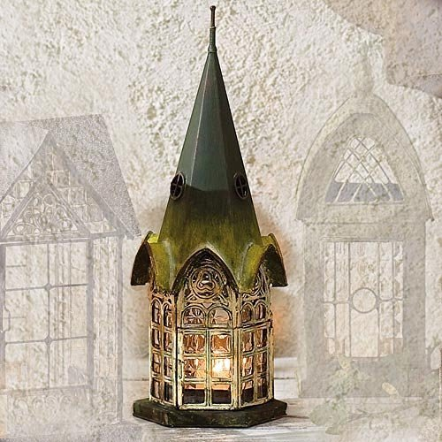Handcrafted English Pickford House Lantern Tea Light Candle Holder - ChristmasTablescapeDecor.com