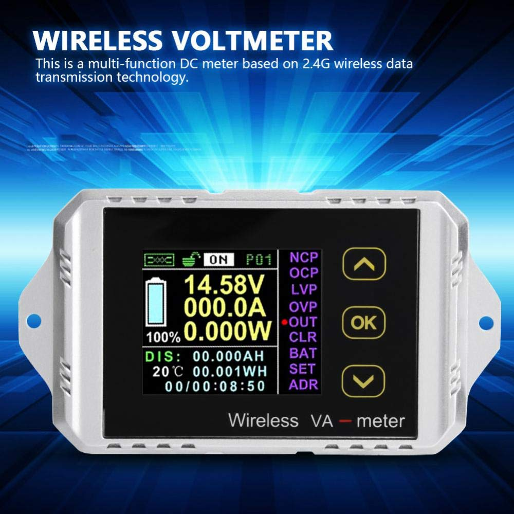 akozon multimeter dc voltmeter wireless color lcd screen dc voltage rh amazon com