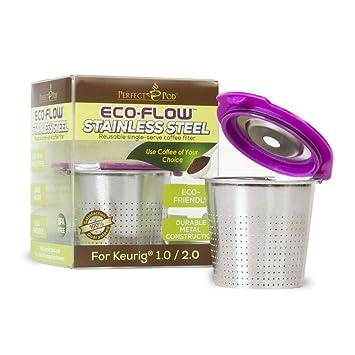 Amazon.com: Filtro reutilizable de acero inoxidable ECO-Flow ...