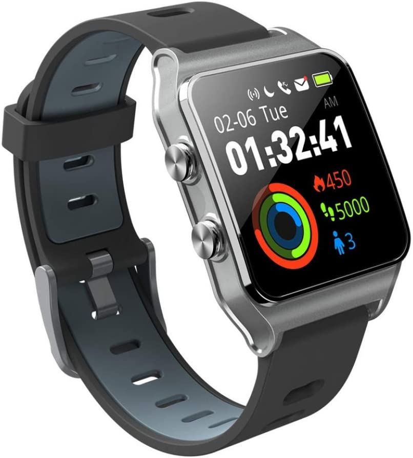 SJUTALR Relojes Deportivos Hombres GPS Relojes Inteligentes SmartBand IP68 Impermeable rastreador de Fitness para Xiaomi Phone MI8 iOS