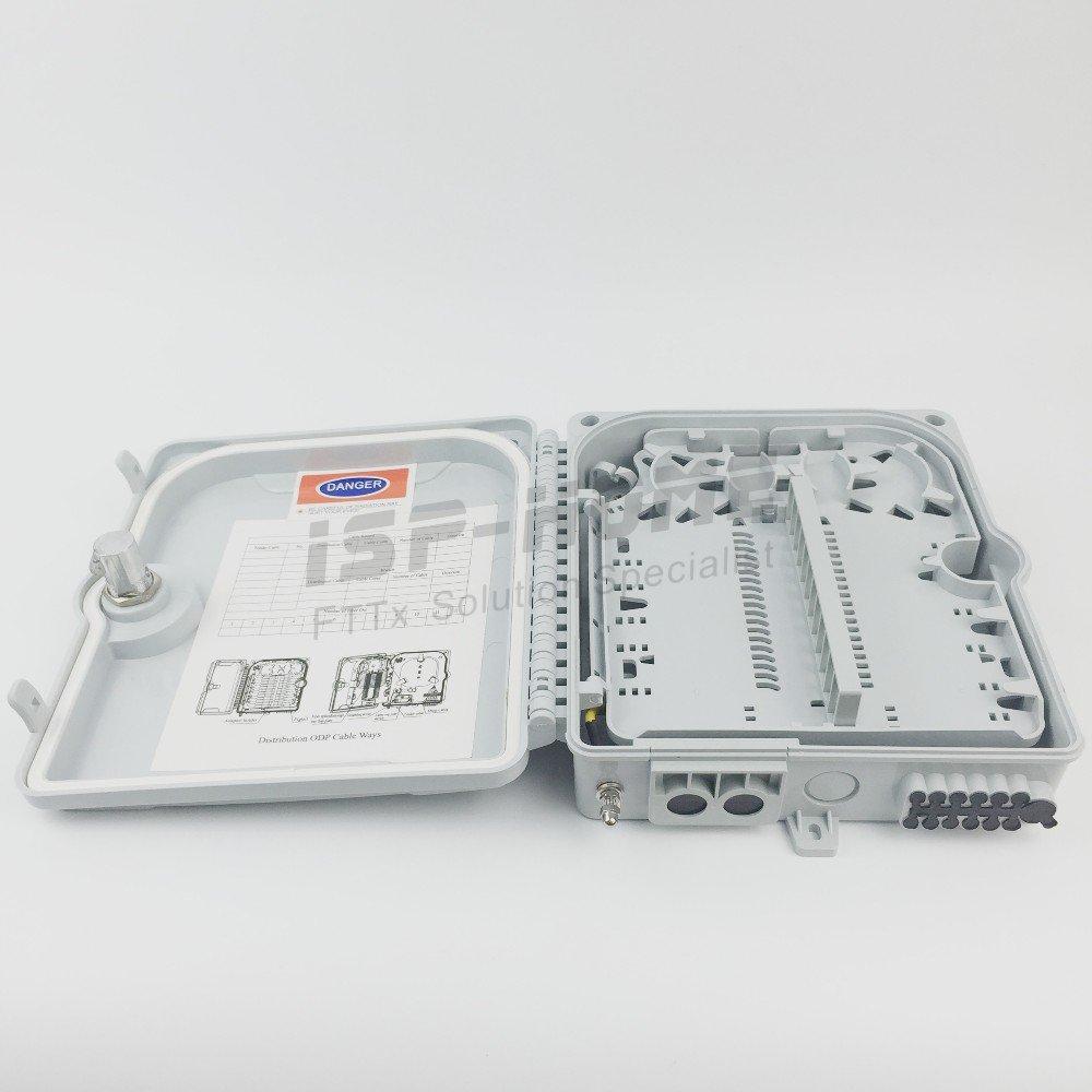 20pcs/カートンの12ポートFTTH光ファイバー終端ボックス1 x 12コアアウトドアファイバー光学スプリッタまたはドロップケーブル分配ボックス B07DKCV84F