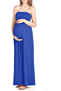 3f9f38d981d HDE Women s Maternity Dress Strapless Tube Top Pregnancy Sundress ...