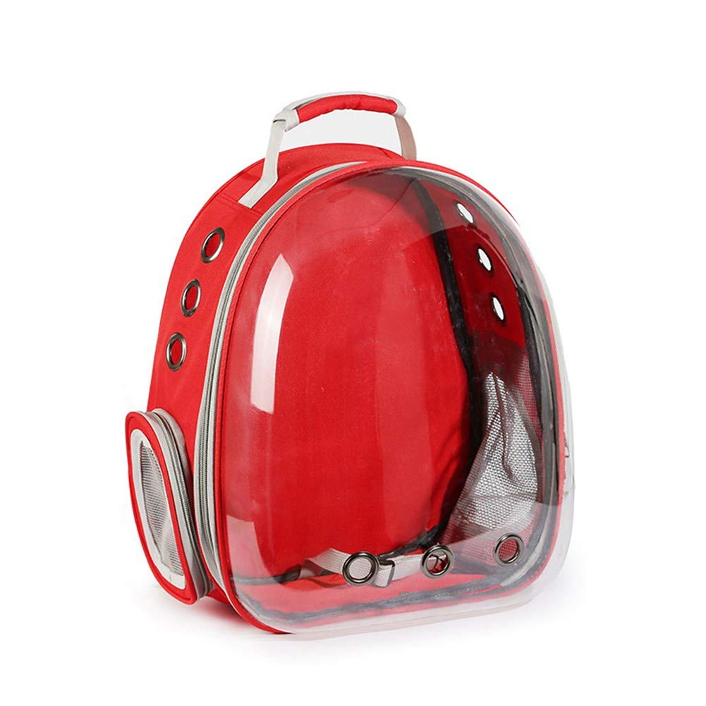 Pet Online Pet Out Carrying Bag cat Transparent Space Capsule Fashion red Backpack, 31×42×28cm
