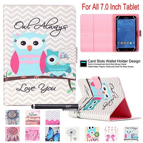7.0 Tablet Case, Universal 7.0'' Case, Newshine Cute Flip St